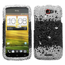 T-Mobile HTC ONE S Crystal Diamond BLING Hard Case Phone Cover Black Universe