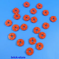 LEGO 2x2 ronde plaques rouge / 20 pièces
