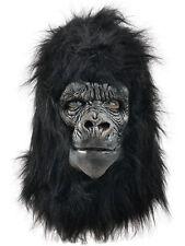 Deluxe Gorilla Full Overhead Fur Latex Rubber Monkey Fancy Dress Halloween Mask