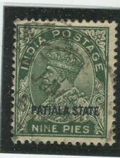 India - Convention States - Patiala Stamps Scott  #62 Used,Fine (X6505N)