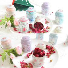 Home Decor Floral Kitchen Coffee Tea Sugar Container Jar Can Tin Metal