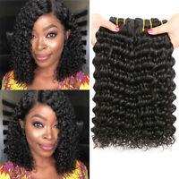 9A Peruvian Deep Wave Hair 1/3 Bundles Deep Curly Virgin Human Hair Extensions