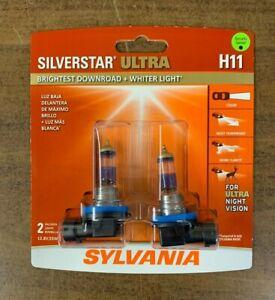 Sylvania Silverstar Ultra H11 Halogen Lamps New Sealed Free Shipping