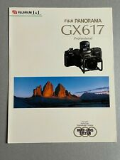 Fuji Panorama GX617 Professional Camera, A4, 3 Page Fold Out. Product Brochure