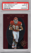 1997 Pinnacle Certified Red #149 Tony Gonzalez / RC - Rookie / PSA 10 GEM MINT