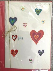 Beautiful PAPYRUS Valentine's Day Card Multi-Layer Vellum -I LOVE YOU! gold cord