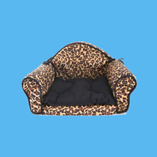 Pet Bed Pillow Cushion Sofa/Couch Leopard Print Design For Small Dog, Cat, Puppy