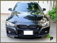 P Style Carbon Fiber Front Lip 12-16 BMW F30 M Sport 328i 335i plus Free Grille
