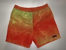 Speedo Bathing Suit Neon Orange Yellow Forever 21 Brand New M