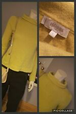 HOBBS Chartreuse Roll Neck Wool & CashmereJumper UK S 8-10