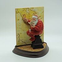 The Danbury Mint Norman Rockwell Santa Claus Charting His Course 1994 Statue