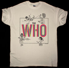 THE WHO BY NUMBERS VINTAGE NATURAL T SHIRT PETE TOWNSHEND THE HIGH NUMBERS