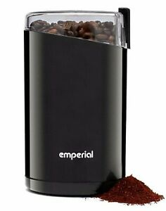 Emperial Electric Coffee Grinder 140W Bean, Spice and Nut Mill Blender black