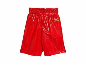 MIZUNO Boxing Trunks Pants Long type made in JAPAN Red Enamel F/S from JPN NEW