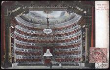 cartolina MILANO interno del teatro della scala
