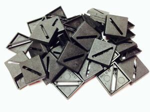Bases BNIB 20mm Square Slotted x 20  20BASE20SQ