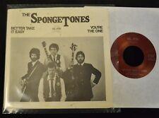 RARE 45 & SLEEVE POWER POP The Spongetones Gear 7104 Better Take It Easy