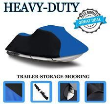 "BLACK/BLUE Tiger Shark 770R 1100R 98-99 118"" Jet Ski Trailerable Cover 2 Seat"