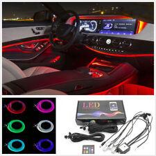 5X 6M 5050 RGB LED Car Interior Decor Atmosphere Light Sound Active APP Control
