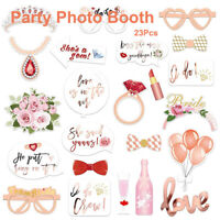 23Pcs Wedding Party Birthday Photo Booth Props Mask Photo Booth DIY Supply