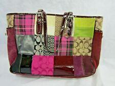 Coach G040-1437 Multi Colored Patchwork Tote Handbag