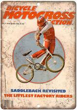 1979 BMX magazine bicycle motocross action 10' x 7' reproduction metal sign