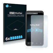 6x Displayschutzfolie für HTC Evo 3D X515 Schutzfolie Klar Folie Displayfolie