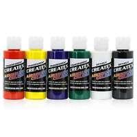 Createx Colors Airbrush Paint Primary Set 5801-00 - 6 Colors - 2 oz