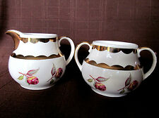 Gibson's Cream and Sugar Set Roses # 111 910 Staffordshire England Vintage
