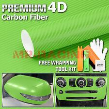 2ftx5ft 4d Gloss Green Carbon Fiber Vinyl Wrap Sticker Bubble Free Air Release