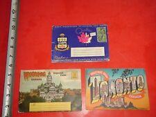 JA354 Vintage LOT 3 Souvenir Postcard Folders Toronto Winnipeg Quebec Canada