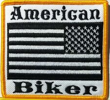 AMERICAN BIKER USA FLAG Flag Embroidery Iron-On Patch