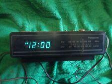 VINTAGE PANASONIC AM/FM CLOCK RADIO MODEL: RC-65 USED