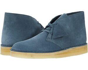Men's Shoes Clarks DESERT COAL Lace Up Chukka Boots 58669 BLUE SUEDE