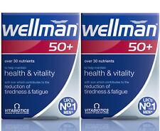 Vitabiotics Wellman 50 Men Vitamin Mineral 30 Tablets Health Vitality PACK OF 2