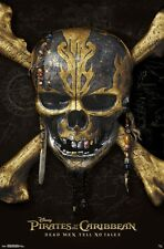 PIRATES OF THE CARIBBEAN 5 - SKULL & CROSSBONES MOVIE POSTER 22x34 - DEPP 15448