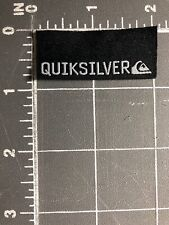 Quiksilver Logo Patch Tag Black White Surf Clothing Boardshorts Snowboard Brand
