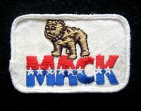 "MACK TRUCK EMBROIDERED SEW ON PATCH BULLDOG STARS ADVERTISING  3"" x 1 7/8"""
