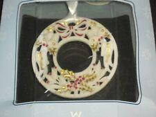 2001 Wedgwood Annual Wreath Ornament Usa In Box