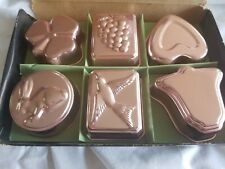 Vintage Aluminum Copper-tone Gelatin Molds-Original Box--Made in Hong Kong