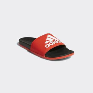 New Adidas Mens ADILETTE CLOUDFOAM + LOGO SLIDES RED F34722 US M 6 - 10 TAKSE