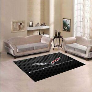New Corvette-Racingg Carbonnn Living Area Rugs Anti-slip Carpet Home Decor