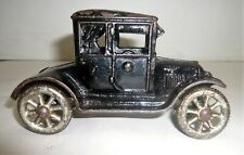 VINTAGE 1920'S CAST IRON MODEL T TOY CAR W/METAL WHEELS