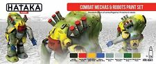 Hataka Hobby AS41 Combat Mechas & Robots Sci-Fi Camouflage Paint Set (8 Colors)
