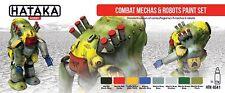 Hataka Hobby AS41 Combat Mechas & Robots Sci-Fi Camouflage Paint Set (8 Colors)