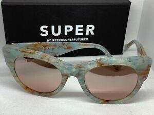 RetroSuperFuture 5V8 Noa Onice Azzurro Frame Size 53mm Sunglasses NIB