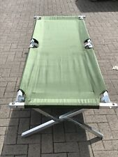 More details for british army folding cot / camp bed aluminium frame with bag new #3580