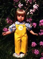New-adorable daisy overall set for American Girl and similar-sized dolls