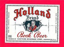 Holland Brand Bock Beer IRTP Bottle Label Hammonton N J