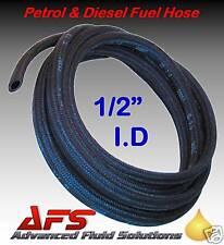 """12mm 1/2"""" PETROL & DIESEL FUEL LINE HOSE PIPE BRAIDED"""